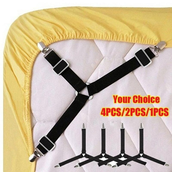 4PCS/2PCS/1PCS Triangle Bed Mattress Sheet Clips Grippers Straps Suspender Fastener Holder