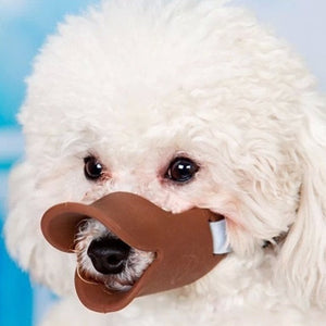 Pet Dog Soft Mouth Muzzle Silicone Anti-bite Duck Mouth Mask for Dogs Pet Accessories