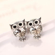 Load image into Gallery viewer, Fashion Cute Crystal Owl Girls Stud Earrings for Women Vintage Gold-Color Animal Statement Earrings