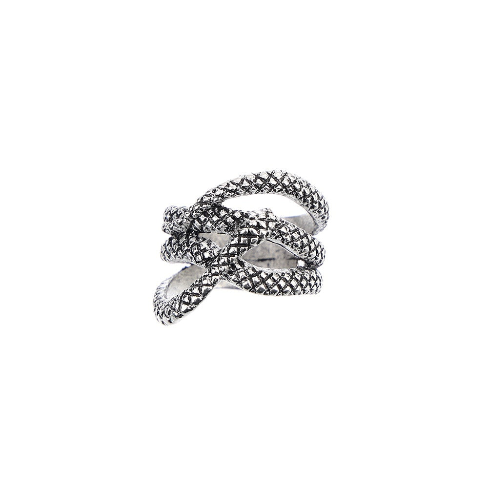 2019 New Vintage Ancient Silver Snake Finger Ring Knuckle Rings Kneeling Snakes Women Fashion Jewelry Gifts