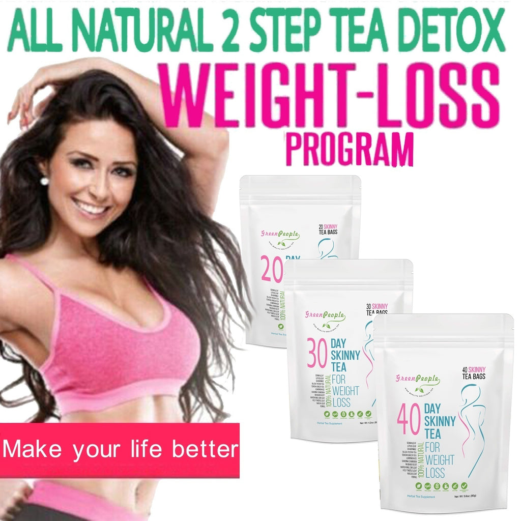 40 Tea Bags GreenPeople Tea, Gentle Diet Detox Tea, Teatox and Appetite Suppressant, Reduce Bloating and Constipation for Weight Loss, 100% Natural Body Cleanse for Women and Men