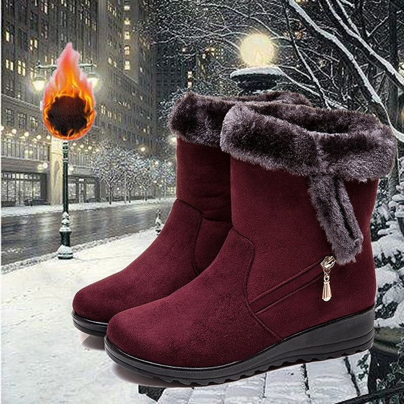 Plus Size Women Winter Warm Cotton Boots Snow Boots