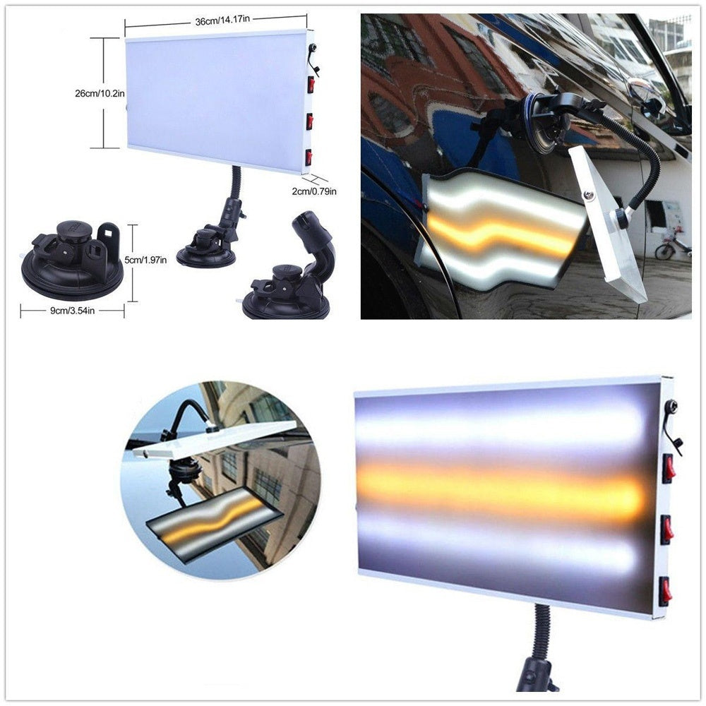LED Light 3 Strips Car Body Lamp for Paintless Dent Repair Hail Removal Work