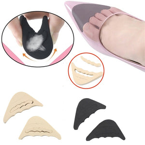 4PCS Soft Foam Insoles High Heel Shoes Pad Cushion Forefoot Insert Toe Plug Foot Heel Protector