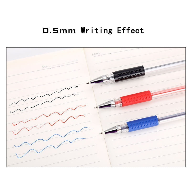 15Pcs/Set High Capacity High Quality 0.5mm Plastic Gel Pen, Writing Black ,Blue,Red for Office or School Supplies,Student stationery ,Gel Pen Pens for  Writing