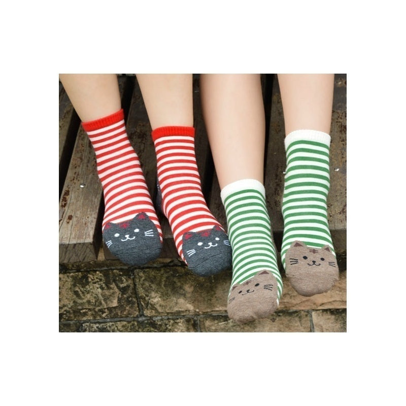 2019 Fashion High Quality Various Styles Women'S Casual Cotton Socks Cute Cats Winter Autumn Korean Style Knit Socks