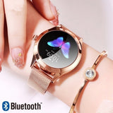 Multifunction Watches Lady Smart Watches Women IP68 Waterproof Stainless Steel Watch Heart Rate Monitoring Pedometer Smart Watch Fitness Bracelet Smartwatch for Gift for IOS Android