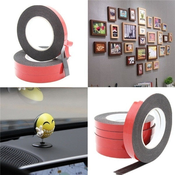 New 1pc 10M Multifunction Car Double Sided Adhesive Tape Foam Tape Sticker 6/10/15/20/25MM