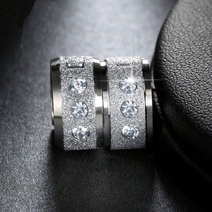 Exquisite Fashion Creative Stainless Steel Earring Men's and Women's Earrings Diamond Earring Health Care Weight Loss Earrings Lover Gifts Stimulating Acupoints Gallstone Earrings Magnetic Therapy Jewelry