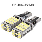 2Pcs High Power Error Free  Auto Bulb Bright T15 W16W 45 SMD 4014  Car Reverse Back Light Turn Signal Lamp LED Canbus