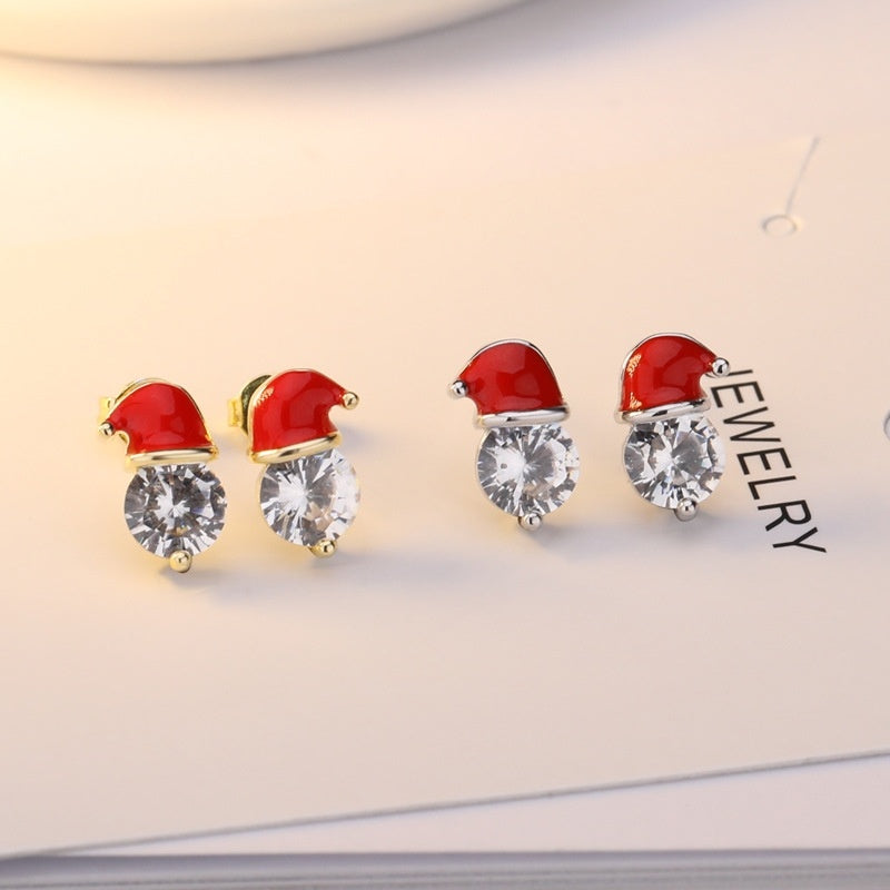 Christmas Hat Earrings Pendant Earrings Stud Earrings  Jewelry Christmas gifts  Buy earrings Free give away necklace