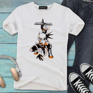 New Fashion Men Women Unisex Casual Anime My Hero Academia Print T-Shirt Short Sleeve Round Neck Graphic Tee Cool Tops