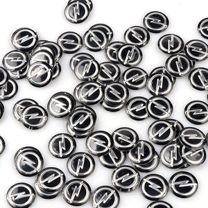 5pcs/lot 14mm 0.55'' Car Key Fob Badge Stickers Radio Button Emblem Decals for OPEL