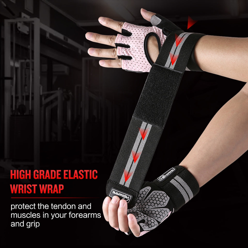 Workout Gloves for Women Men Weight Lifting Gloves with Wrist Support for Fitness Exercise, Climbing, Boating, Dumbbells, Crossfit