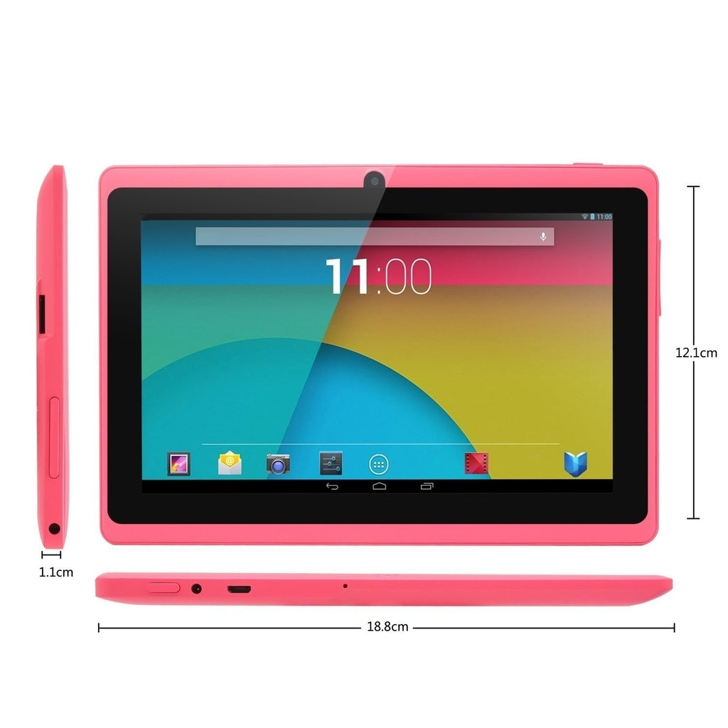 7 Inch Laptops Tablet 1GB Ram IPS Screen Dual Camera Wifi Multi-Color Bluetooth Kids Tablet PC (4/8/16GB Rom)