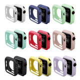 Soft TPU Silicone Colorful  Case Size  38mm 40mm 42mm 44mm  for iWatch Series / Apple Watch 4 3 2 1 Shockproof Dustproof Protector Cover