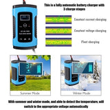 Two Colors 12V 6A Full Automatic Car Truck Motorcycle Battery Charger Intelligent Fast Power Charging Pulse Repair Chargers Wet Dry Lead Acid Battery-chargers with Digital LCD Display
