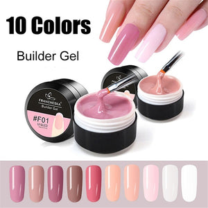 15ml Hot Pink White Clear UV Lamp Use Women Fashion Nail Extension Builder Gel French Manicure 3D Crystal Jelly Nail Art Extend Glue