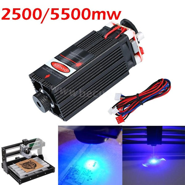 Laser Module 2500mw/5500mw 450nm Focusable Laser Head for CNC Engraving/ Laser Engraving