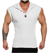 Load image into Gallery viewer, 2019 Men's Casual Loose Fashion Hooded Button Vest V-neck Fitness Deep Training Summer Tank Top Solid Color Sports Vest Sleeveless T-shirt Bodycon Slim Fit Pullover Plus Size S-5XL 5 Color