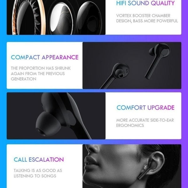 30+ Language Translation Bluetooth Earphone TWS5.0 Stereo Earbuds With Charging Bin Sports Earphone For Business Meeting