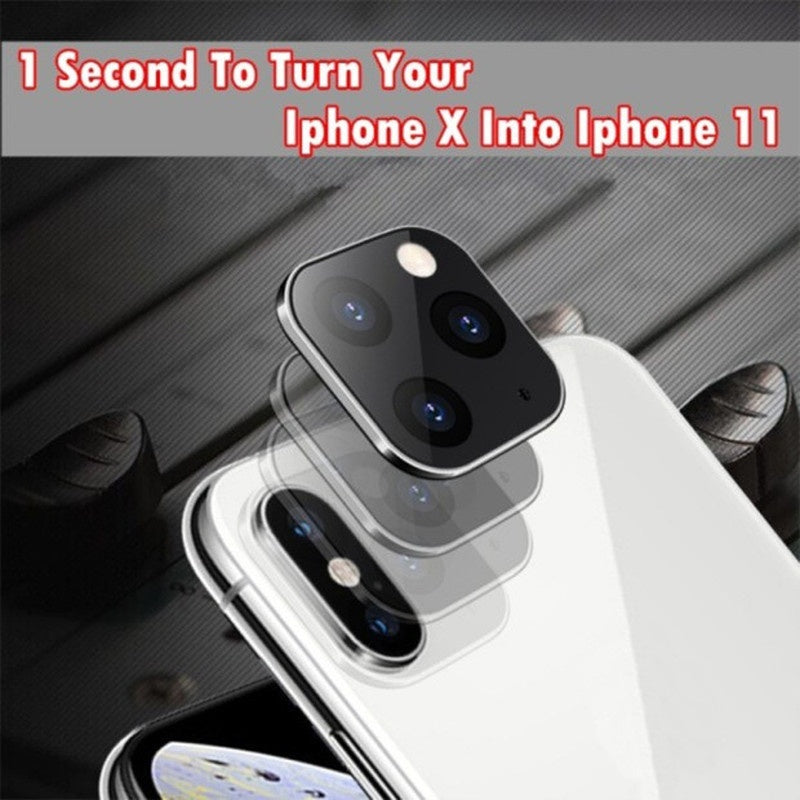 New Titanium Alloy Fake Camera Suit for IPhone X XS XMAX Change for IPhone 11 PRO Lens Sticker Modified Camera Cover