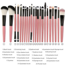 Load image into Gallery viewer, Fashion Makeup Brush Set tools Make-up Toiletry Kit Wool Brush Set Eye Shadow Makeup Brushes(6/15/22Pcs Can You Choice)