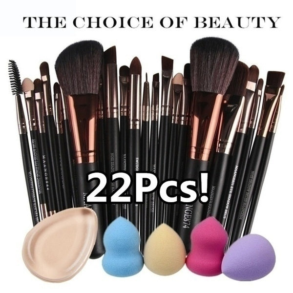 Fashion Makeup Brush Set tools Make-up Toiletry Kit Wool Brush Set Eye Shadow Makeup Brushes(6/15/22Pcs Can You Choice)