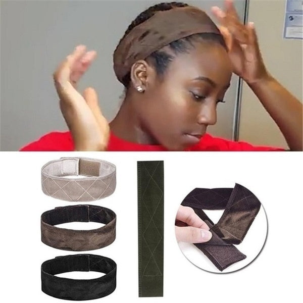 Grip Band Comfort Velvet Fasterner Hair Adjustable Sport Head Band Wig