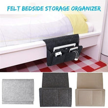 Load image into Gallery viewer, 1 Pcs Felt Bedside Sofa Storage Bag Remote Book Mobile Phone Hanging Sundries Organizer Dormitory Storage Bag