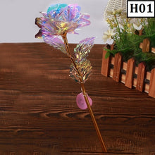Load image into Gallery viewer, Simulation Eternity 24K Foil Plated Rose Flower Wedding Decor Led Lighting Rose Flower Valentine'S Day Creative Gift