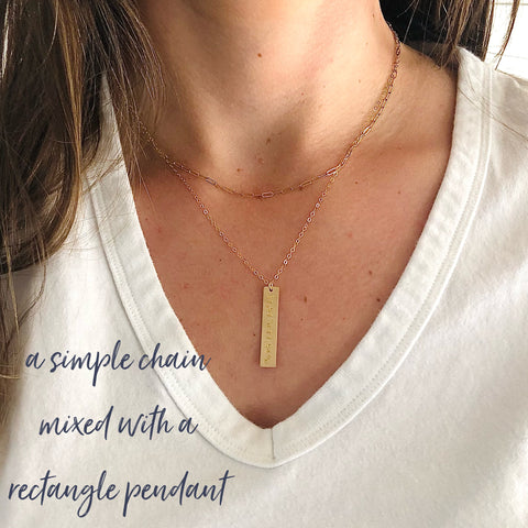 Layering Gold Necklace designed by Sarah Cornwell Jewelry
