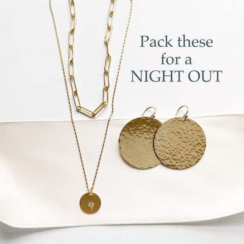 gold jewelry to pack for a vacation