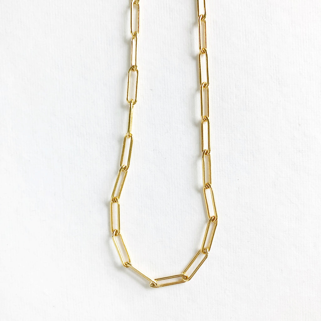 Large Gold Link Necklace
