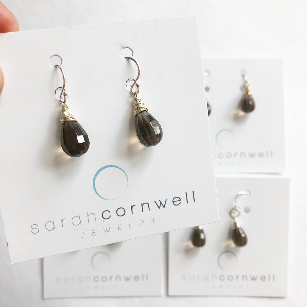 Smokey Topaz Earring Sale