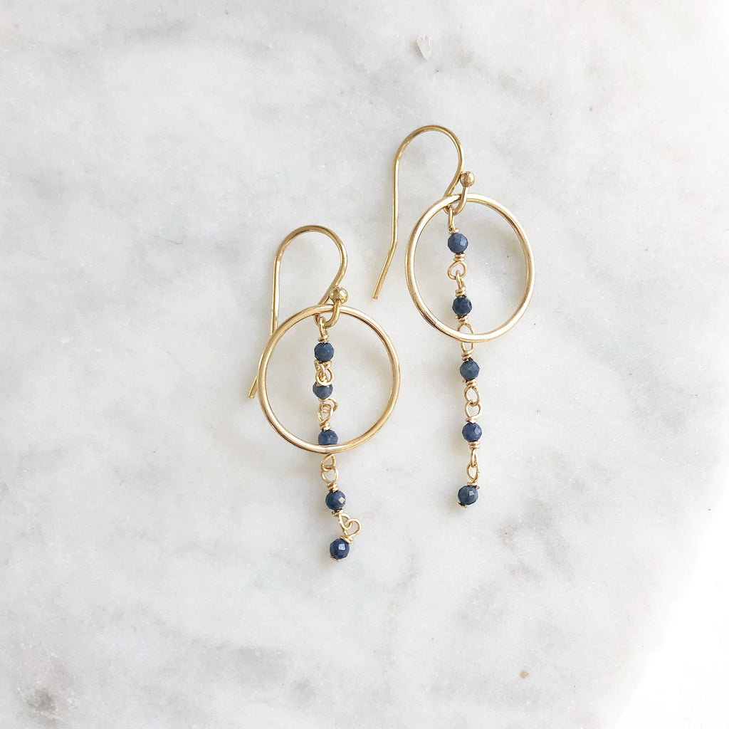 Sapphire Small Hoop Earrings