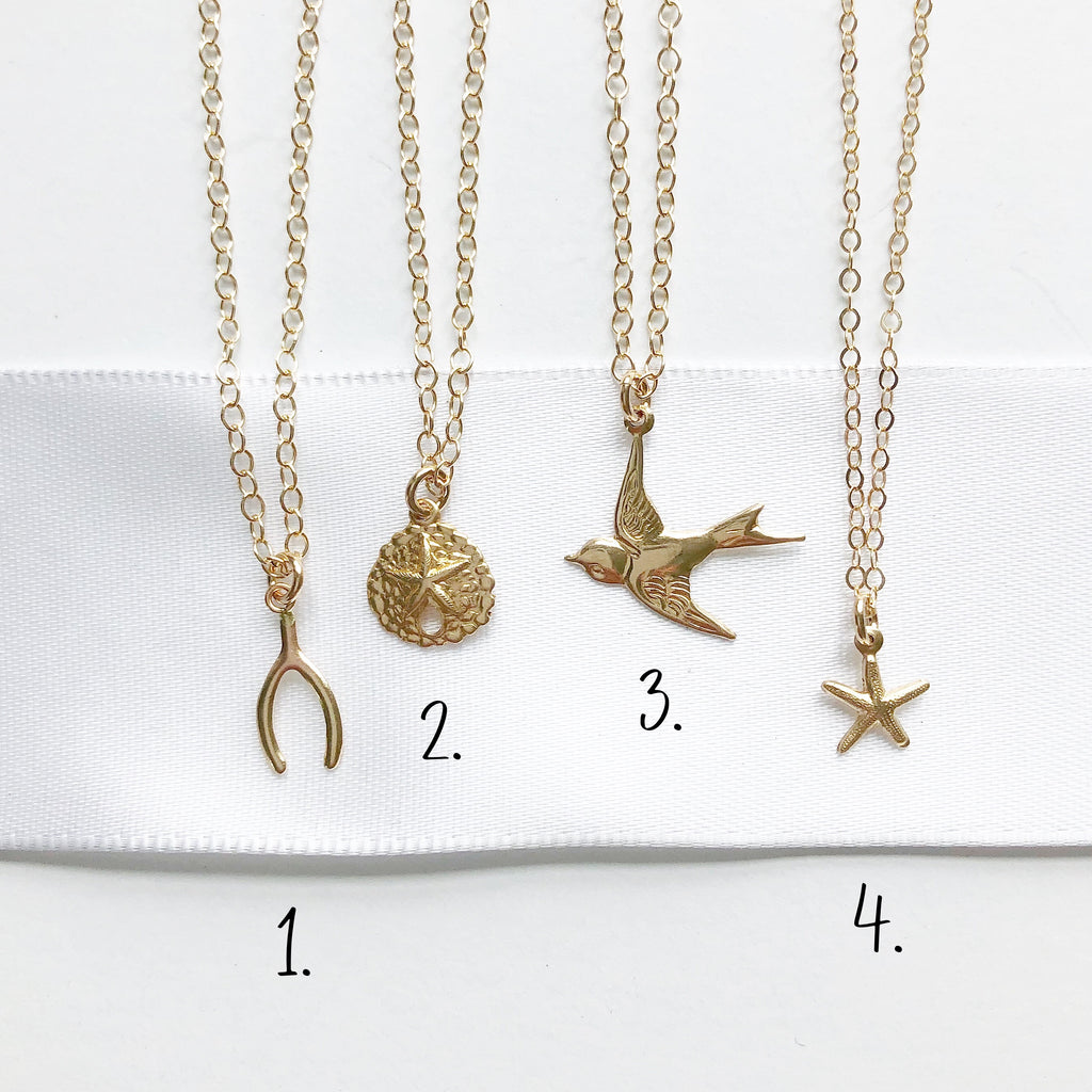 Gold Charm Necklaces