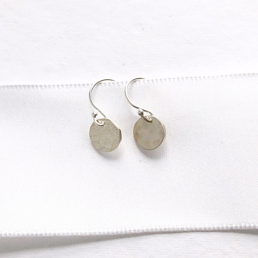 Silver Hammered Earrings