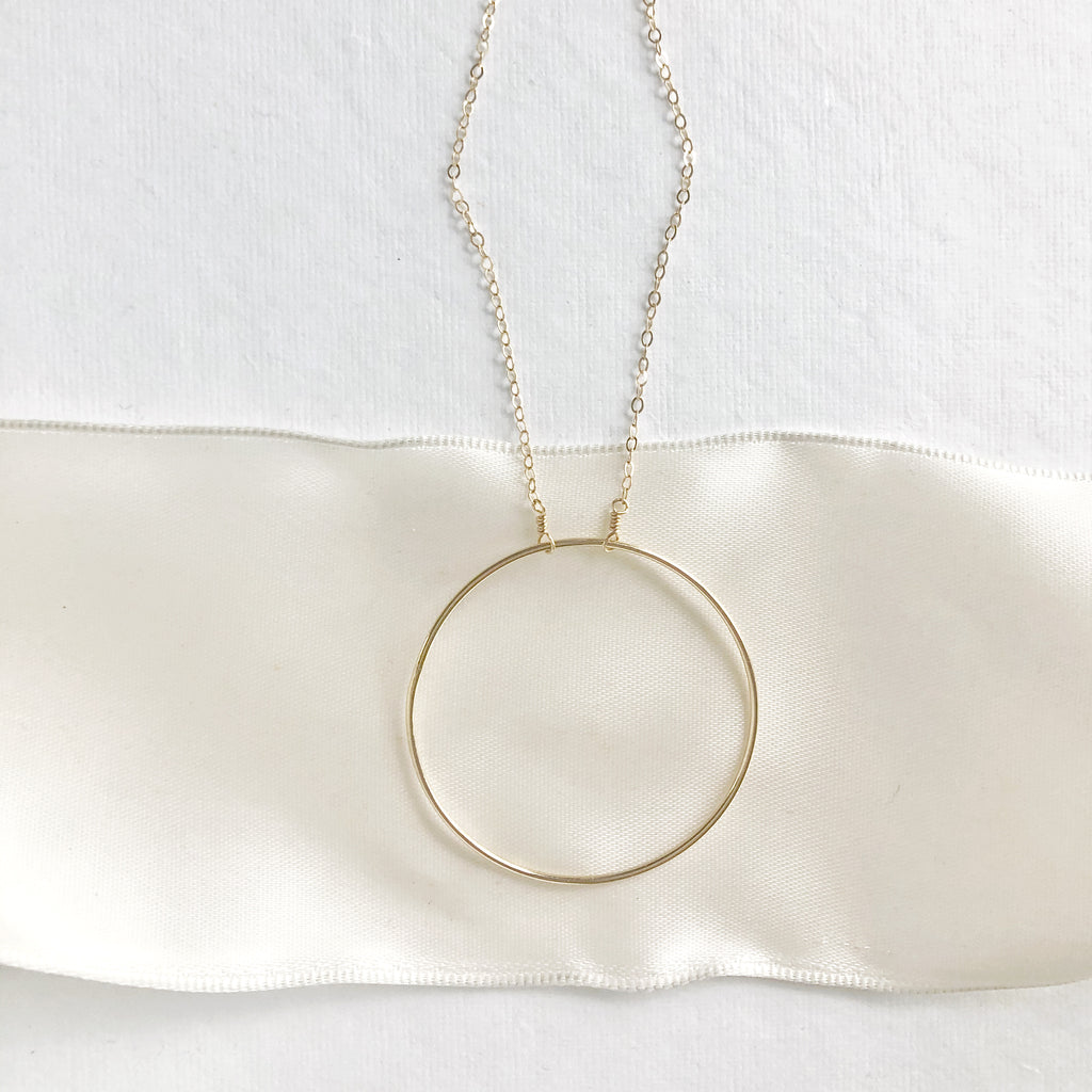 Large Open Circle Pendant Necklace