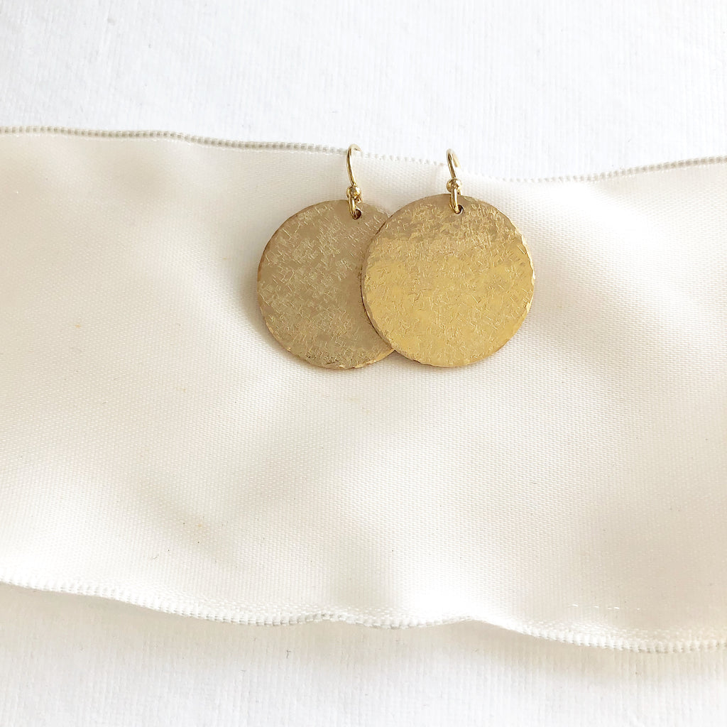 Gold matte earrings