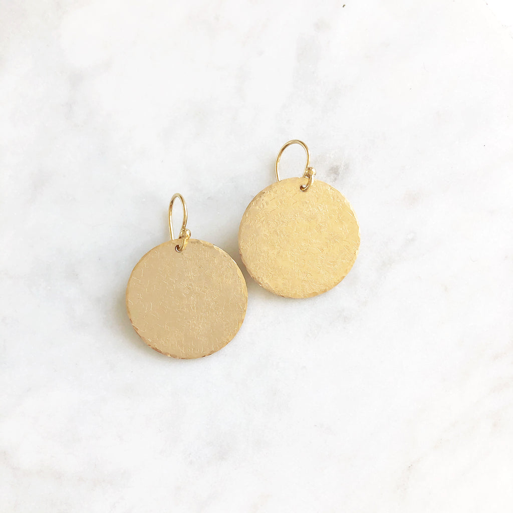 Matte Gold Circle Earrings