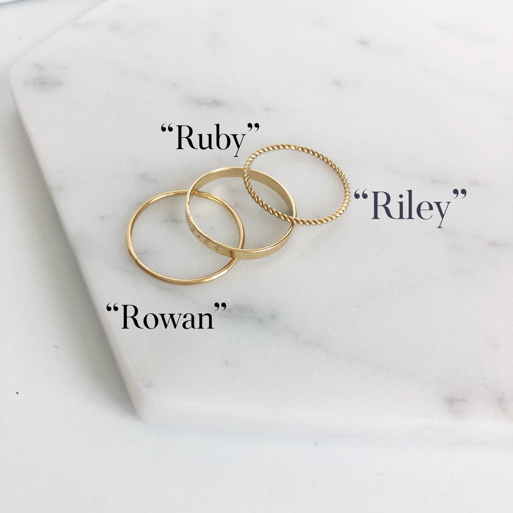 """Ruby"" Stacked Rings"