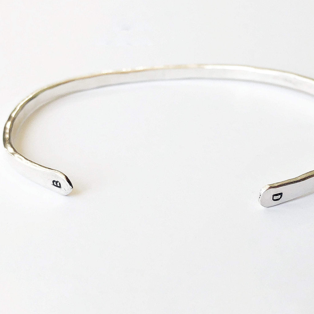 Gold or Silver Initial Bangle