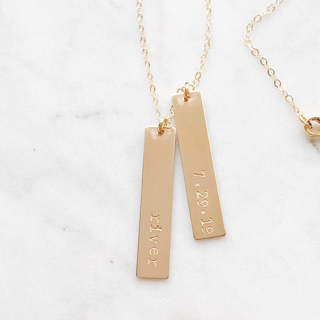 Personalized Name & Birthdate Necklace
