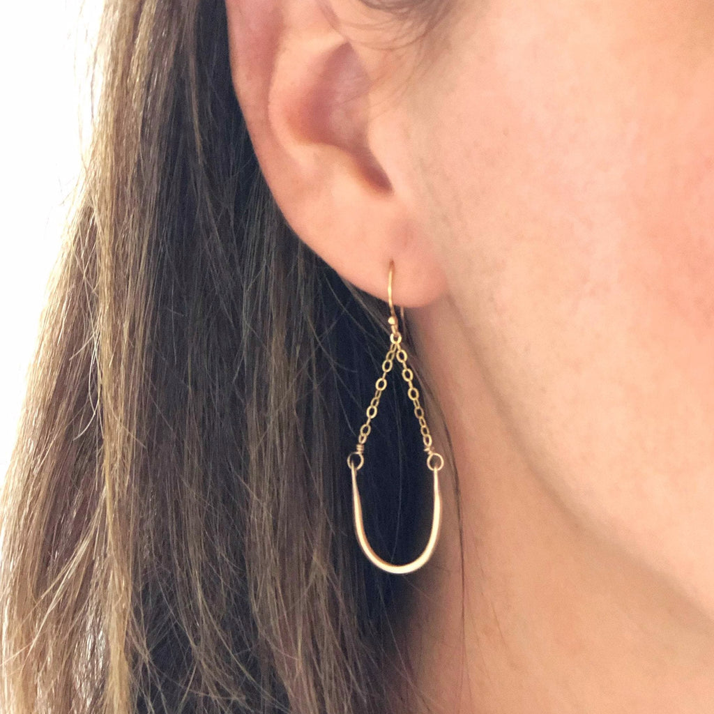 Horseshoe Gold Earrings