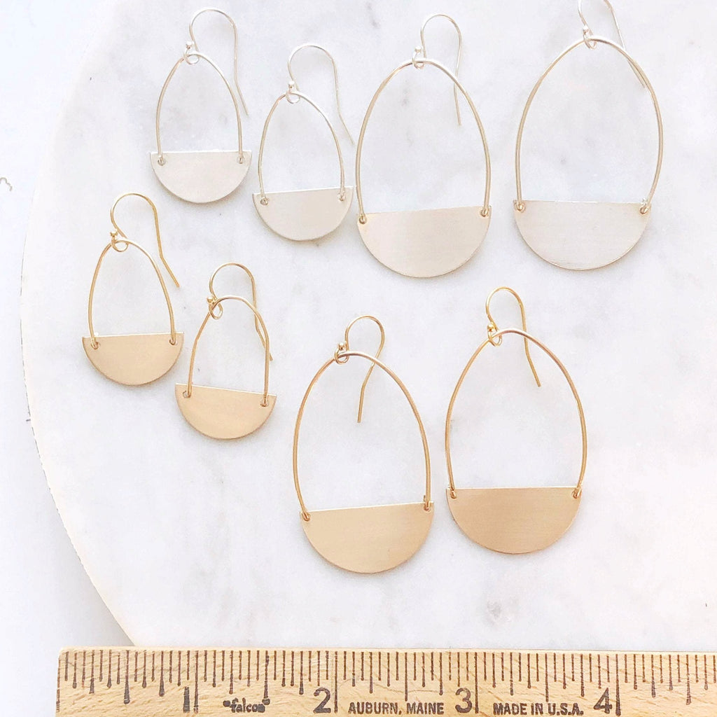 Matte Gold statement earrings
