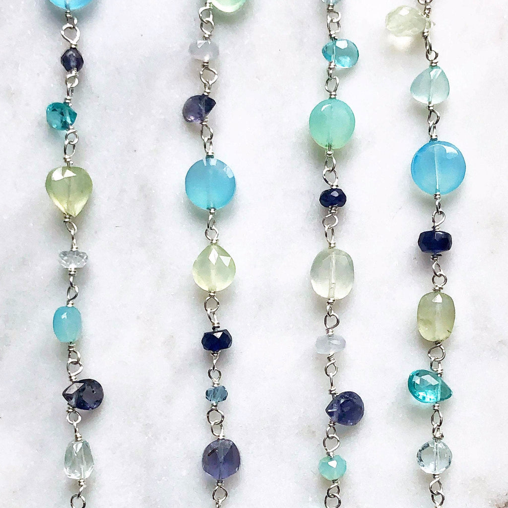 Blue Gemstone Necklace