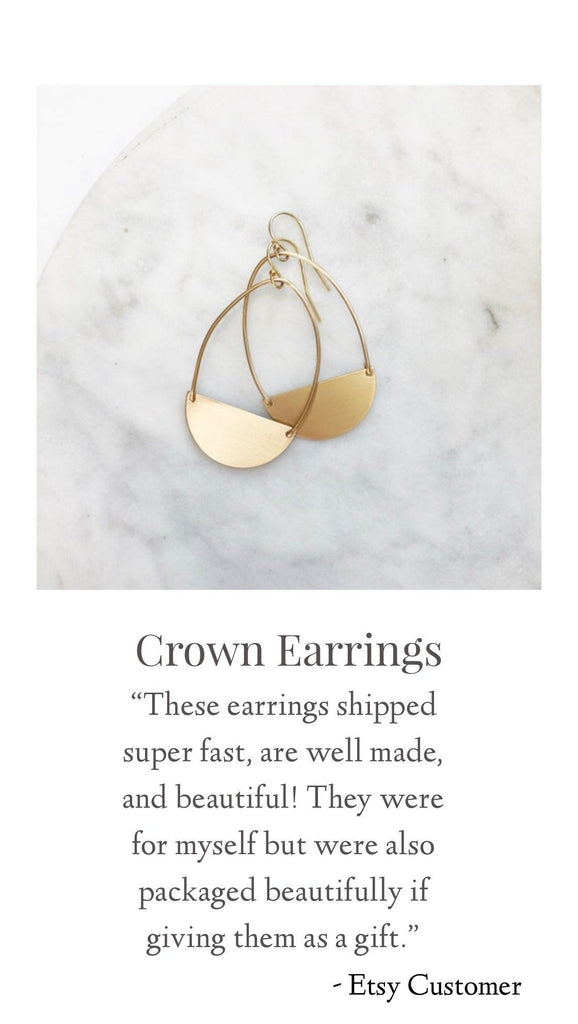 """Crown"" Earrings"
