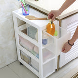 Hot Sale 20CM Width Storage Cabinet Kitchen Plastic Drawer Collection Rack Kitchen Organizers Sundries Clothing  Eco-Friendly