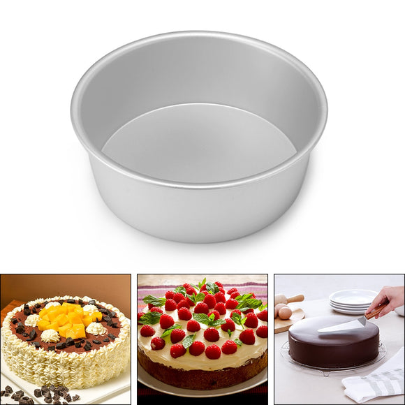 4/6/8 Inch  Aluminum Alloy Round Cake Baking Mould Pan Tin Mold Tray Bakeware Tool High Quality Round Nonstick Cake Pan Durable